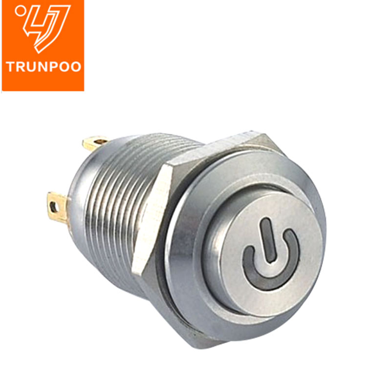 MS12 LED Metal pushbutton switch