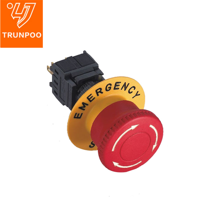 16MM F16 Plastic Emergency stop switch